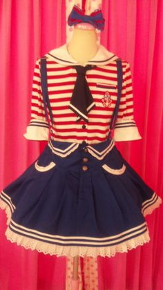 I'm obsessed with sailor clothes. Harajuku Fashion, Kawaii Fashion, Lolita Fashion, Cute Fashion, Asian Fashion, Pretty Outfits, Cool Outfits, Estilo Lolita, Kawaii Dress