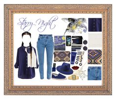 """Starry Night"" by melaccamarina on Polyvore featuring moda, Vetements, Forever 21, Goldie, Bobbi Brown Cosmetics, Soludos, Henri Bendel, Jeffree Star, Elemis e Estée Lauder"