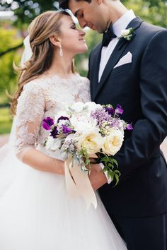 Eli Turner Studios; Elegant DC Wedding with Shades of Violet from Eli Turner Studios - bridal bouquet