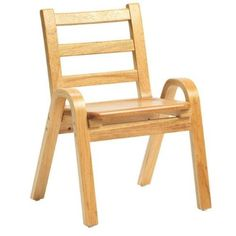 Angeles Corporation AB78C11 11 In. Naturalwood Chair, As Shown