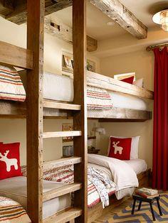 Bunk Room. Wonderful design in this Bunk Room. #BunkRoom