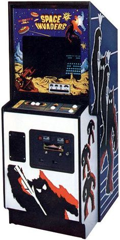 """"""" of the very first wave of video arcade games! 'Pong', and 'Asteroids' came first, but 'Space Invaders' was by FAR the most popular! Shown here: The original Space Invaders Arcade Game cabinet. Space Invaders, King Of Fighters, My Childhood Memories, Childhood Toys, Nostalgia, Donkey Kong, Retro Toys, Vintage Toys, Retro Games"""