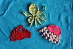 Ravelry: sea creatures applique 1 by Ramona Byers