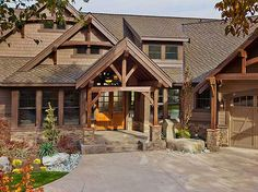 Ideas For Home Plans Craftsman Luxury Exterior Colors Exterior Colors, Exterior Design, Le Ranch, Outdoor Living Rooms, Lakeside Living, Craftsman Style House Plans, Craftsman Homes, Timber Frame Homes, Timber Frames