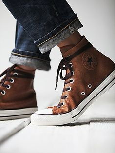 Vintage Leather Travel Chucks - from free people