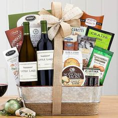 Wine Gift Baskets - Business Wine Basket Wine Gift Baskets, Gourmet Gift Baskets, Show Appreciation, Welcome Gifts, Business Gifts, Thanksgiving Gifts, Wine Gifts, Wine Rack, Wines