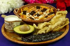 Picture of Tortilla Soup Authentic Mexican Food Recipe - Item No. Real Mexican Food, Mexican Cheese, Mexican Food Recipes, Ethnic Recipes, Mexican Restaurant London, Mexican Kitchens, Chicharrones, Homemade Guacamole, Artisan Cheese
