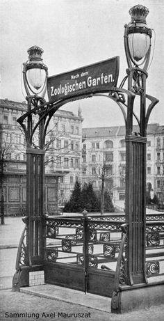 Alfred Grenander, U-Bhf Wittenbergplatz 1902 Berlin Spree, The Cruelest Month, Art Nouveau, Metro Subway, Berlin Photos, Brick In The Wall, Berlin City, U Bahn, Image Categories