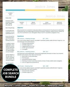 COMPLETE Job search PACKAGE - Resume, Cover Letter, Thank you Letter & Reference Letter