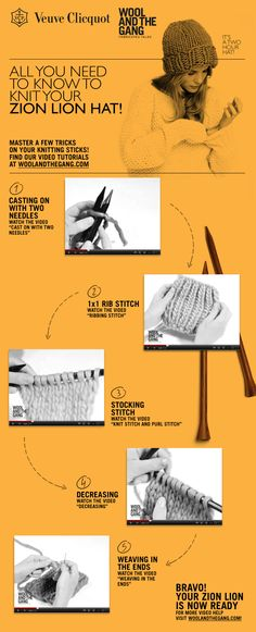All you need to know to knit your zion lion hat