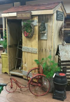 primitive garden shed available at antique mercantile jackson michigan 850 - Garden Sheds Michigan