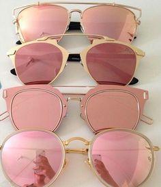 Lentes de espejo para sol. Sunglasses mirror. Rosa / Pink