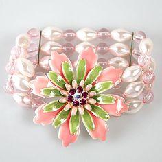 Flower Bracelet  Pink Meadow