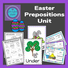 Easter Prepositions Unit by Love 2 Learn English English Teaching Resources, English Teachers, Teaching Ideas, Spring Activities, Holiday Activities, Classroom Activities, Classroom Resources, Teacher Resources, Plant Song