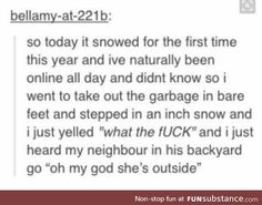 And then everyone clapped. Even the garbage cans.