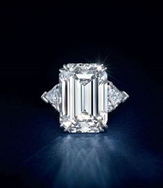 A 11.00 carats rectangular-cut Type IIa diamond ring, by Harry Winston