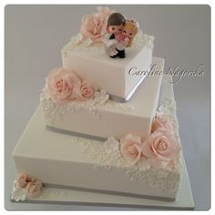 My first Wedding Cake - by CarolineNagorcka @ CakesDecor.com - cake decorating website