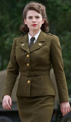 Peggy Carter - Marvel Cinematic Universe Wiki. Dream costume, looks like I need to die my hair brown