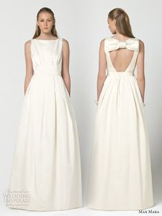 max mara bridal 2013 intenso wedding dress keyhole back oversized bow Abiti  Da Sposa fd9aca7a536