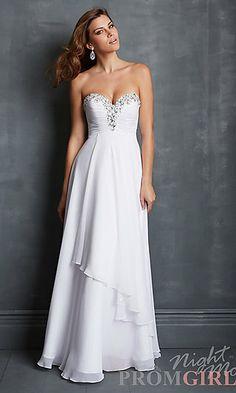 Night Moves 7044 Floor Length Strapless Prom Dress  at PromGirl.com#prom#dress#promdress