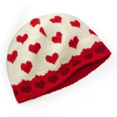 Festive for Valentine's Day with the SIJJL Heart Wool Beanie Hat