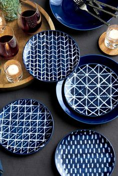 Dyed Dishes - 20 Ways To Add Indigo To Your Home - Photos
