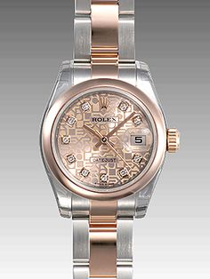 rolex women's datejust rose gold - Google Search