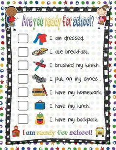 Great chart to avoid nagging the kids