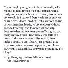 pinterest: cynthia_go | cynthia go, quotes, prose, poetry, excerpt from a book i'll never write, life quotes, sad quotes, pain quotes, teen quotes, pretending to be okay, depression, mental health, typewriter