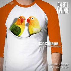 Kaos LOVEBIRD, Kaos 3D, Kicau Mania, Kaos BURUNG, https://www.facebook.com/kaos3dbagus, WA : 08222 128 3456, LINE : kaos3dbagus