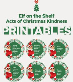 Kristi Young Design: Acts of kindness for your Elf on a Shelf