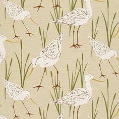 SEA BIRDS - SAND. Image: Calico Corners. #aviary #fabric #novelty_prints.  Love this print!
