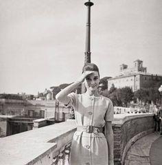 Audrey Hepburn in Rome, Italy. 1959
