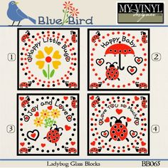 DIGITAL DOWNLOAD ... Glass Block vectors in AI, EPS, GSD, & SVG formats @ My Vinyl Designer #myvinyldesigner #bluebird