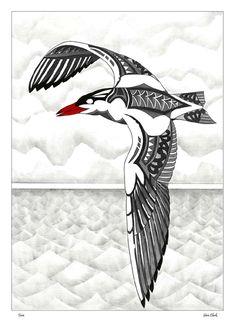 Kura Gallery Maori New Zealand Design Sam Clark Graphic Designer Maori Designs, New Zealand Art, Nz Art, Maori Art, Kiwiana, Bird Wings, Carving Designs, Art Icon, Animal Coloring Pages