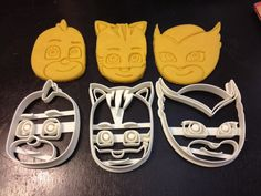 PJ Masks Faces Cookie Cutters. Cat Boy Gekko and by HomesAndHolmes