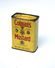 Vintage Colman's Mustard Tin by SecondHandNews on Etsy, $4.95
