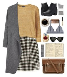 """070316"" by rosemarykate ❤ liked on Polyvore featuring Raoul, Topshop, Steve Madden, Miss Selfridge, The Cambridge Satchel Company, Moleskine, Linda Farrow, Cosabella, Splendid and Urban Decay"
