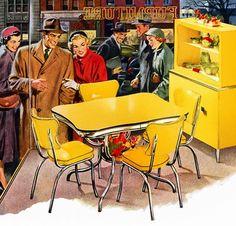 Kitchen Vintage Retro Yellow New Ideas Vintage Advertisements, Vintage Ads, Vintage Images, Vintage Stuff, 1950s Advertising, Retro Images, Style Retro, Style Vintage, Motif Vintage