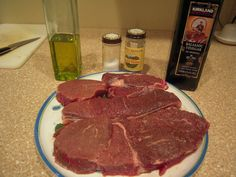 Here is a great way to dress up simple grilled round steaks without spending a lot of time or effort on them. As long as things are thawed out ahead of time, you'll have the steaks done in less th...