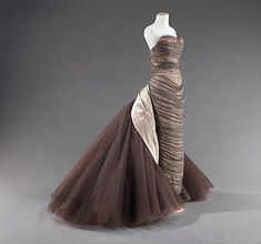 """Charles James (American, born Great Britain, 1906–1978), """"Butterfly"""", 1955, silk. Brooklyn Museum Costume Collection at The Metropolitan Museum of Art, Gift of the Brooklyn Museum, 2009; Gift of Mrs. John de Menil, 1957."""