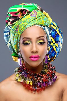 Rayjeweled-Beauty-Headwraps-makeup ~Latest African Fashion, African Prints…