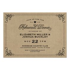 =>>Cheap          Burlap Rustic Vintage Script Rehearsal Dinner Custom Invites           Burlap Rustic Vintage Script Rehearsal Dinner Custom Invites in each seller & make purchase online for cheap. Choose the best price and best promotion as you thing Secure Checkout you can trust Buy bestRev...Cleck Hot Deals >>> http://www.zazzle.com/burlap_rustic_vintage_script_rehearsal_dinner_invitation-161331882947656549?rf=238627982471231924&zbar=1&tc=terrest