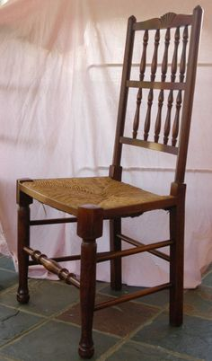 Canonbury - Set 8 French Rustic Spindleback Chairs in Oak Oak Dining Chairs, Wicker Chairs, Side Chairs, Rustic Kitchen, Restaurant Design, French Country, Armchair, Furniture, Home Decor