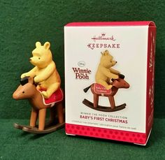 Hallmark 2013 Baby's First Christmas Winnie the Pooh Rocking Horse Ornament MIB #Hallmark