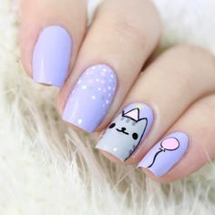 Looking for really NEW ideas of BIRTHDAY NAILS? We`ve found 70 cute pictures with B-day manicure for all ages. Birthday Nail Designs, Birthday Nails, Belated Birthday, Birthday Design, Art Birthday, Birthday Ideas, Nail Art For Kids, Nagellack Design, Cute Nail Art Designs