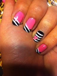 Stripes, hearts, and pink. Gorgeous!