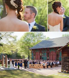 Outdoor ceremony at the Trolley Barn