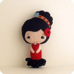 Spanish Girl pdf Pattern by Gingermelon on Etsy, $8.50