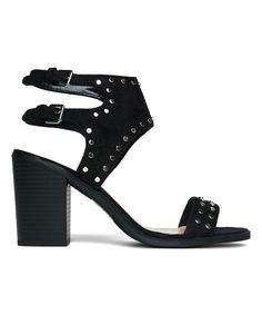 Black Linq Studded Gladiator Sandal